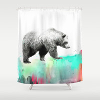 Wild No. 1 // Bear Shower Curtain by Amy Hamilton