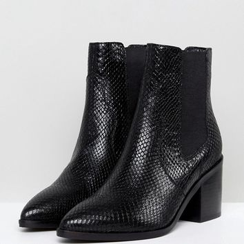 ASOS ROWEN Leather Chelsea Boots at asos.com