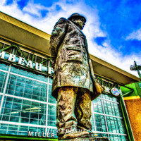 Green Bay Lambeau 10x13 matted