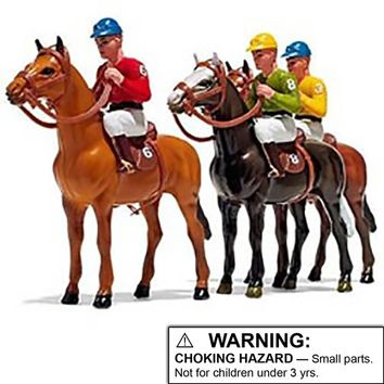 "Large 6"" Horse & Jockey Figurines 