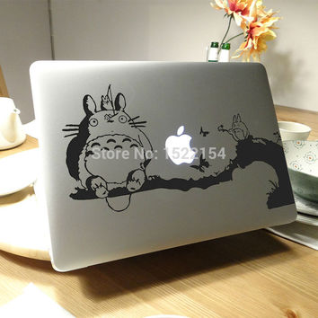 "Totoro Cat  Notebook Sticker for Apple Macbook 11"" 12"" 13"" 15"" Air Pro Retina Laptop Decal Vinyl Mac Computer Case Cover Skin"