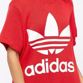 adidas Originals Womens Big Trefoil Tee - Radiant Red