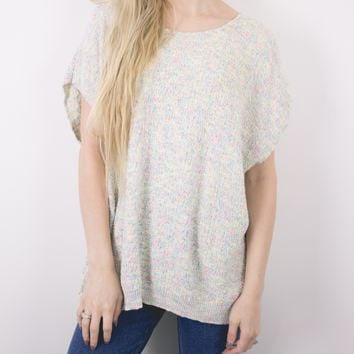 Vintage Pastel Sleeveless Top