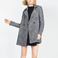 WOOL HERRINGBONE COAT