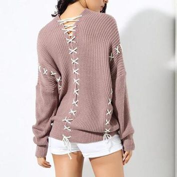 Leinia Criss Cross My Heart Sweater