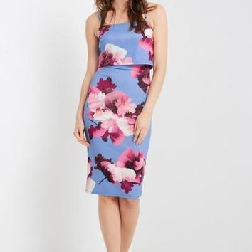 Marianne Floral Bodycon Dress