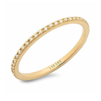 Classic Micro Eternity Band 14k Rose Gold