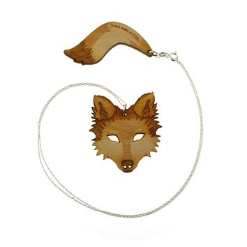 Wolf & Tail Necklace