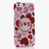 Pink Hearts Personalized Monogram Design (style MO_2029)