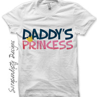 Daddy's Princess Iron on Transfer - Daughter Iron on Shirt PDF / Kids Girls Clothing Tshirt / Daughter Shirt / Princess Baby Clothes IT82