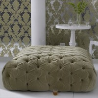 velvet ottoman - apple - $0.00 : brocade home