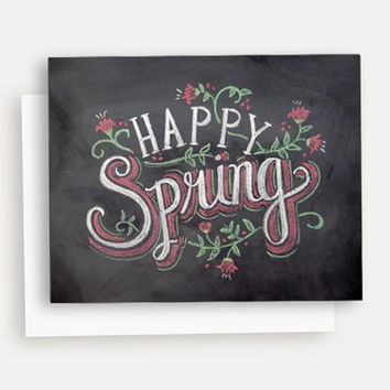 Happy Spring  - A2 Note Card