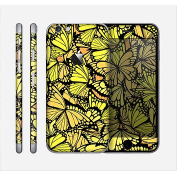 The Yellow Butterfly Bundle Skin for the Apple iPhone 6