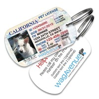 California Driver's License Pet Tag - Updated New Version