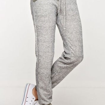 Solid Joggers with Camo Trim - Light Gray