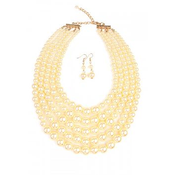 PERFECT PEARL NECKLACE & EARRINGS