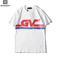 Givenchy New fashion bust letter print couple top t-shirt White