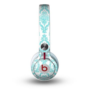 The Fancy Laced Turquiose & White Pattern Skin for the Beats by Dre Mixr Headphones