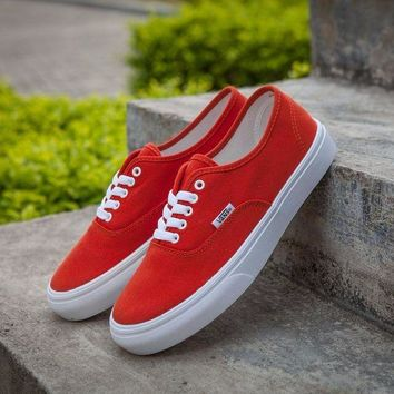 DCCKU62 Sale Vans Authentic Red Sneakers Casual Shoes