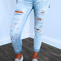 Such Glam Jeans: Light Denim