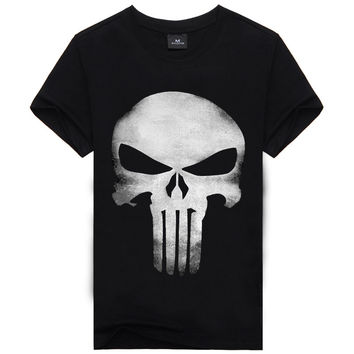 3D T Shirt Men Skull Printed Short Sleeve Cotton T-shirt