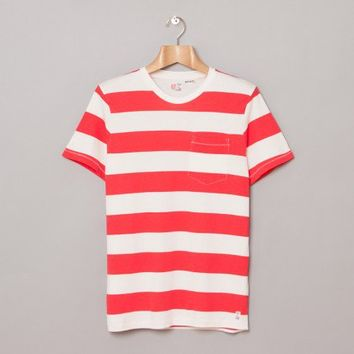 M.Nii The Mainland Stripe T-Shirt (Alii Red) | Oi Polloi