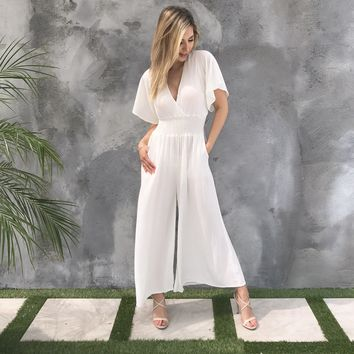 Eternal Love Jumpsuit in White