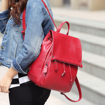 Back To School Casual College Comfort Hot Deal On Sale Leather Korean Stylish Backpack [6582620359]