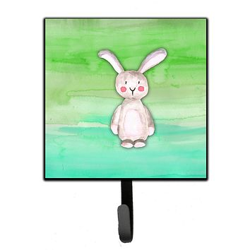 Bunny Rabbit Watercolor Leash or Key Holder BB7437SH4