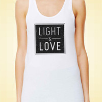 Light and Love Tank Top. Cotton Womens Yoga Tank