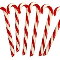 Hammonds Old Fashioned Giant Candy Cane Holiday Gift Peppermint Pack of Six