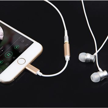 3.5mm Metal Earphone Headphone Jack Adapter Connector Cable For iPhone 7 8/ 7 8Plus