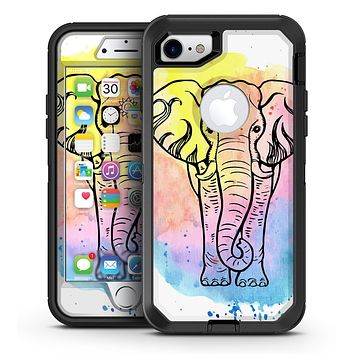 Sacred Elephant Watercolor - iPhone 7 or 7 Plus OtterBox Defender Case Skin Decal Kit