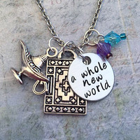 A Whole New World Necklace , Fairytale Jewelry , Once Upon A Time Jewelry , Princess Jewelry , Prince Jewelry