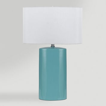 Aqua Ceramic Table Lamps, Set of 2 - World Market