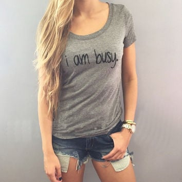 Gray Letter Print Short Sleeve T-Shirt
