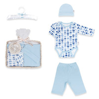 Tadpoles™ by Sleeping Partners Mod Zoo Size 0-6M 5-Piece Gift Set in Blue Hippo