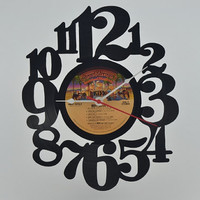 Vinyl Record Clock (artist is KISS)