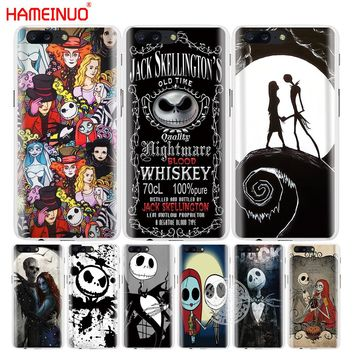 HAMEINUO Jack&Sally Nightmare Before Christmas cover phone case for Oneplus one plus 5T 5 3 3t 2 X A3000 A5000