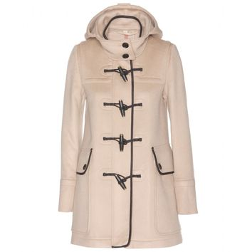 mytheresa.com - Leather-trimmed wool duffle coat - Luxury Fashion for Women / Designer clothing, shoes, bags