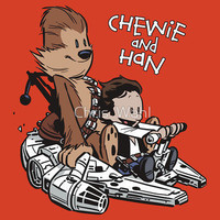 Chewie And Han By Chris Wahl T-shirt - Funny, vintage, custom, cool, cotton, women's, men's and kids tees