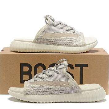 adidas Yeezy Lundmark Reflective Sandals Slippers Sliders Summer Shoes Flip Flop - Best Deal Online