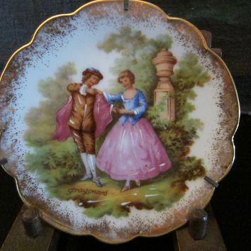 Limoges Romantic Signed Fragonard Porcelain Small Plate