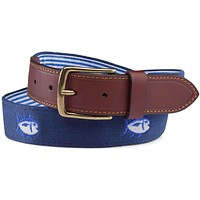 Embroidered Skipjack Belt in Yacht Blue by Southern Tide