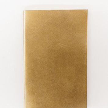 Metallic Gold Leather Journal