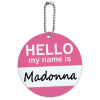 Madonna Hello My Name Is Round ID Card Luggage Tag