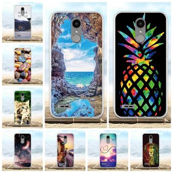 For LG K10 2017 Case Soft Silicone TPU Fundas Coque For LG LV5 Cover 3D Cute Animal Bag Shell For LG K10 2017 M250N Phone Cases