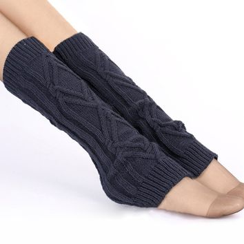 Casual Solid-Color Brief Knitted Leg Warmer