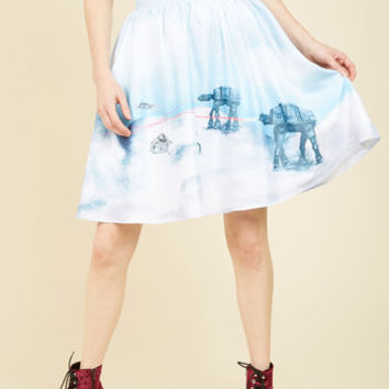 Drop It Like It's Hoth A-Line Skirt | Mod Retro Vintage Skirts | ModCloth.com