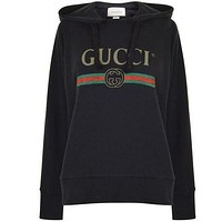 GUCCI Hooded Fashion Long Sleeve Top Sweater Hoodie Sweatshirt G
